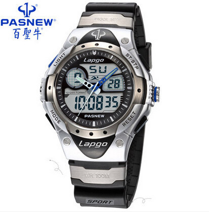 Hot-sale Pasnew men's sports watch 100 meters waterproof watches men's watch dress watch free shipping(China (Mainland))
