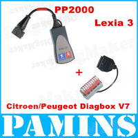 High Quality Lexia 3 Citroen Peugeot Diagnostic Tool 2013 V48 Lexia3 PP2000 V25 Diagbox Scanner Interface Free Shipping