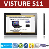 "10.1"" Quad Core Intel Baytrail IPS 1280 x 800p Tablet Windows 8.1 Visture S11 2G DDR3 32G Dual Camera 8 hours battery"