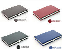 Free Shipping New travel stainless steel thin bank credit card holder and  business business card 15pcs name card holder