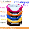 Free shipping New pet dog bed dog cotton kennel Color Rose Red/Orange/Blue/Brown/Yellow Size M/L(China (Mainland))