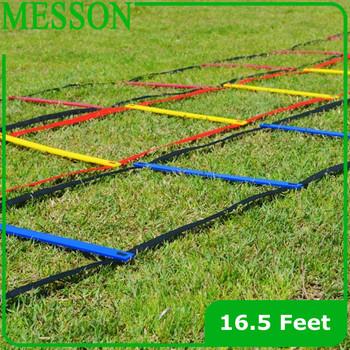 Soccer Training 10pcs/Lot  Speed agility ladder Quick Flat Rung football training Ladder