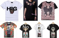 2013 Summer New Dsign Men's T-Shirt Short Sleeve Fashion Shirt Neckline Printed Pattern Cotton Casual Tee Plus S/M/L/XL M-9020