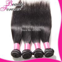 6A Cheap Peruvian Virgin Hair Straight Human Hair Weave Straight Weaving 4Pcs/Lot Mixed Straight Peruvian Hair Beauty Forever