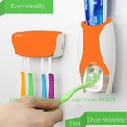 Toothpaste dispenser orange ABS 3M sticker quality squeezer for toothpaste Toothbrush holder Automatic bathroom uh086(China (Mainland))