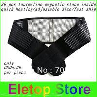 Free shipping 2pcs  Waist Brace Support Spontaneous Heating massage Protection waist  Magnetic Therapy Belt,waist heating belt