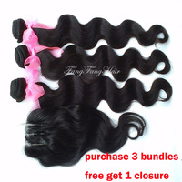Queen hair products Peruvian virgin hair Body Wave 3pcs Lot queen hair  shop product 100% human hair weave Free Shipping