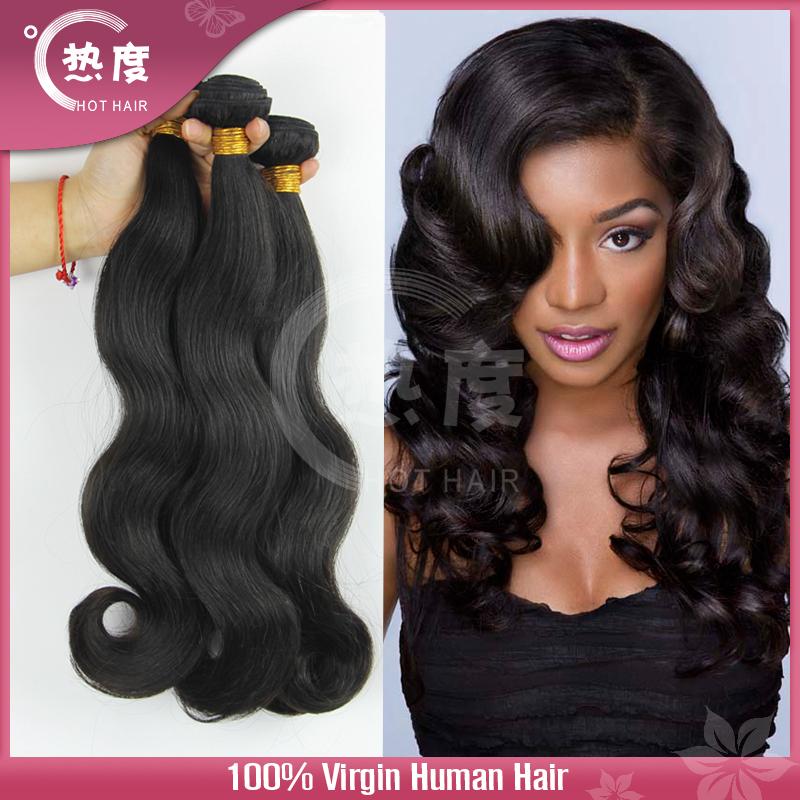 Virgin unprocessed 6A Peruvian hair human hair weave wavy Peruvian virgin hair body wave Peruvian body wave 3 pcs lot(China (Mainland))