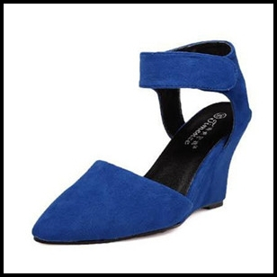 Pointed Toe Greast Suede 2013 Women High Quality Shoes With Wedges Unique Pumps For Women High Heels Shoe Lady's Discount Shoe(China (Mainland))