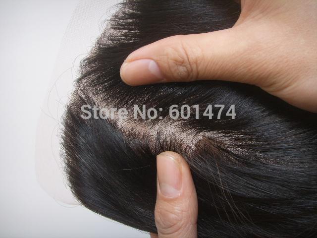 "Silk Base Top Closure In Stock! Virgin Quality Hair !Silky Straight Brazilian Hair Silk base Lace Closure 10"" -20"" 4x4(China (Mainland))"