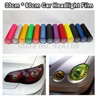 "12"" x 24"" Auto Smoke Fog Light  styling Car HeadLight Taillight Sticker Vinyl Film Sheet  free shipping"