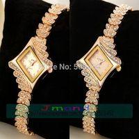 60pcs/lot King girl Brand Full Crystal Alloy Watch Fashion Ladies JW Brand Quartz Dress Watch Wrap Casual Women Rose Gold Watch