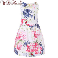 New arrival 2013 summer UK designer girls' dress brand girls princess kids dress for 2-8 children wear