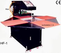 Heat Transfer/Press Machine, 4 Rotate Pneumatic Printer, L400*W400mm, Print T-shirt, Glass, Metal, Ceramic, Wood, Video, Digital