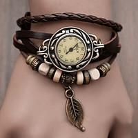 8Pcs/Lot Women's Leather Strap Bracelet watchband Watch Vintage Watch Dress Wrist Watch Butterfly Watch Weave braid watch 1