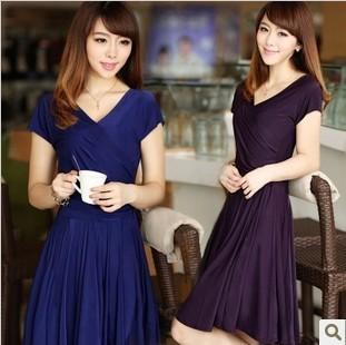 L-4XL , New 2014 Women summer dress fashion Slim Tunic Milk Silk print Floral dresses autumn Casual Plus Size sexy bodycon dress