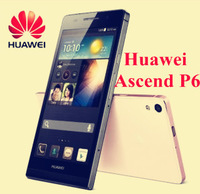 "Free shipping Huawei Ascend P6 World's Slimmest Mobile Phone Android 4.2 Quad Core 4.7"" 5MP/8MP 1.5GHz 2GB/8GB"