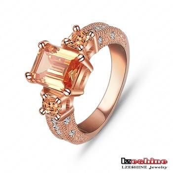Beautiful Ring Rectangle Zircon Cutting Ring 18K Розовый Золото/Platinum Plated Женщины ...