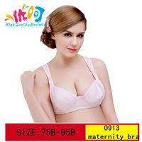 0913 Maternity Underwear Nursing Bra Breast Feeding 42B Cotton Maternity Bra Buckle Wireless Pregnant Women Wide Straps Feeding