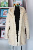 Free shipping Winter women's 2013 faux fur medium-long faux overcoat fox fur outerwear plus size s - xxl size black  white beige