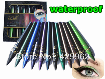 12 PCS Shimmer  waterproof  Eye shadow Pencil  in 10 colors