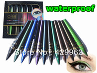 12 PCS Shimmer & nude waterproof  Eyeshadow Pencil Eyeliner cream Pen Makeup set in 10 colors