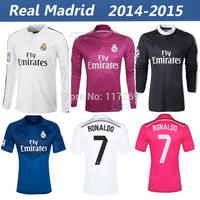 Real Madrid 2014 2015 Soccer Jersey James Kroos Men Women Shirt Best Thai Quality Ronaldo Bale Ramos Long Sleeve Shirt pants
