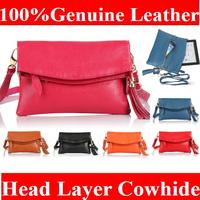 2014 Fashion Genuine Leather Bag women leather Handbags Tassel Bag  Women's Clutch Bag Fold ipad mini bags NN2801