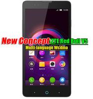 Original ZTE V5 Red bull ZTE V9180 Wcdma Nubia Red Bull Android 4.4 Mobile Phone MSM8926 1280x720 13MP Camera Multi-language