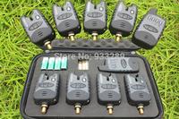 Free Shipping JY-38 Fishing bite alarm wireless fishing bite alarm set with 8 LED for carp fishing bite alarm set (4+1set)