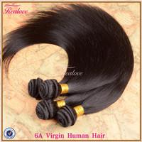 "Brazilian Virgin Hair Straight 3/4pc 8""-30"" 5a Unprocessed Virgin Human Hair Weave Brazilian Straight Hair Extension Realove"