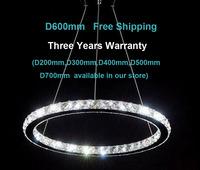 Free shipping luxury  modern design LED crystal chandelier light fixture  D600mm 3years warranty  livingroom bedroom lighting