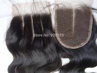 4x4 Bleached Knots PansyHair 3 Part Lace Closure Peruvian with Baby Hair 3 Way Closure Peruvian Virgin Hair Closure Tops