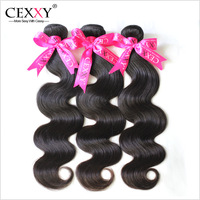 Cexxy Queen Hair Products 6A Unprocessed Peruvian Virgin Hair Body Wave Human Hair Weaves Extension Mix Length 3PCS/LOT
