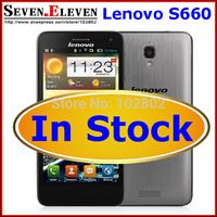Original Lenovo S660 MTK6582 Quad Core 3G mobile phone 4.7'' IPS 1GB/8GB Bluetooth GPS Android 4.2 Russian