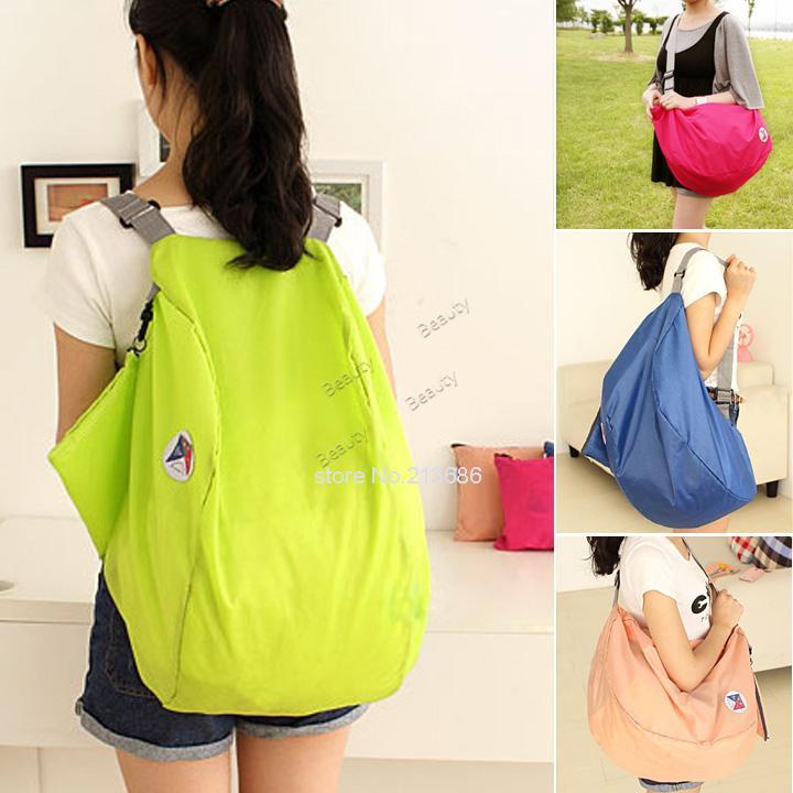 Wholesales 2014 NEW,Unisex Foldable Travel Bag, Waterproof Nylon Handbag Shopping Bag/Sports Bag #3 SV005271(China (Mainland))