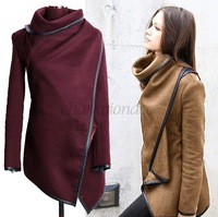 Hot sale Winter trench overcoat Women Coat Long Wool Casual Fashion Solid Long Sleeve 3 Colors Warm Plus Size Female B16