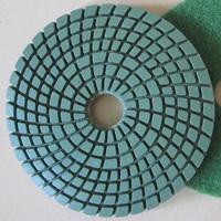 "4"" Wet Polishing Pads/diamond polishing pads/flexible polishing pads for granite and marble"