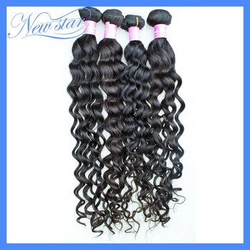 4pcs mixed New star Cambodian virgin human hair extensions more wavy perm wave machine weft natural dark brown wholesale price