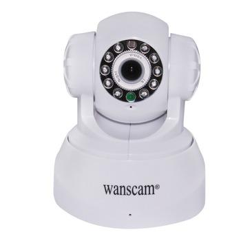 WANSCAM Dual Audio Pan/Tilt Indoor Wireless WiFi CCTV Cam Home Security Network Webcam IR Night Vision Internet IP Camera White