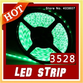 Free Shipping !!! 5M 300 LED 3528 SMD 12V flexible light 60 LED/M,LED strip, White / Warm white / blue / Green / Red / Yellow