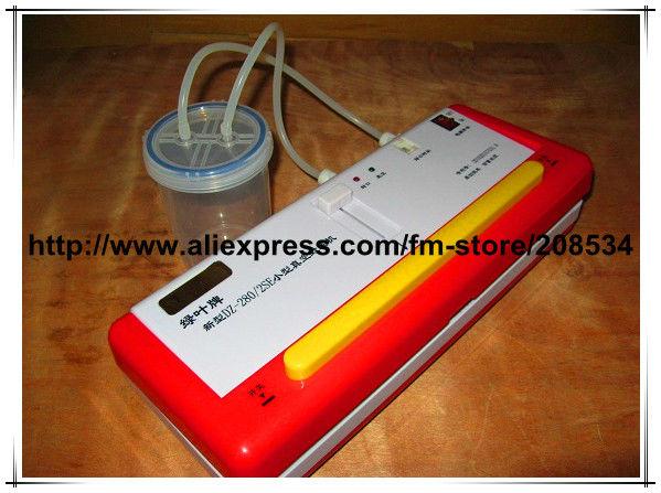 Express Free shipping!220V SINBO DZ-280/2SE Portable household vacuum packer bag sealing machine dry/wet environment available(China (Mainland))