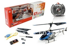 Free Shipping 10.6 inch 3.5CH C7 SH 6030 RC helicopter with camera gyro rc radio control RTF ready to fly SH6030 1GB SD Card(Hong Kong)