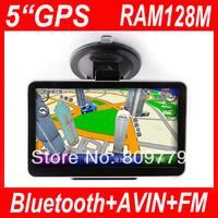 5 inch gps navigation,MTK,DDR128M,WINCE6.0,480*272,Bluetooth,AV IN,FM Transmitter,4GB,free map,car gps navigation