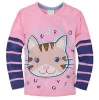 Girl's 100% Cotton Knitted Long Tees Children's Sportwear Tshirts, 6 Sizes/lot - JBLT196/JBLT203/JBLT216/JBLT245/JBLT360/JBLT371