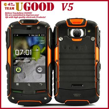 """agm roca original v5+ androide teléfono móvil impermeable al polvo a prueba de golpes 3.5"""" smartphone tri- prueba tres contra teléfonos celulares 3g de"""