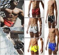 Free shipping Man's Swimming Swim Trunks Shorts Slim Super Sexy Swimwear  has Pocket Size  M L 3 colors Very Cool