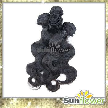 Sunflower Hair 12-28 inches 3 bundles DHL Free shipping Body wave Peruvian Virgin Human Hair Extension