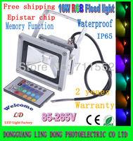 Wholesale 5pcs Floodlights 10W RGB LED Flood Light 16 Color RGB Remote Control Outdoor Lighting 85-265V IP65 (Memory function