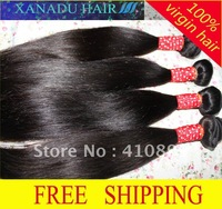 24''+26''+28'' 3pieces/lot mixed lot 1B Natural Color Virgin Brazilian Hair Weft,Natural Straight Factory Outlet Price